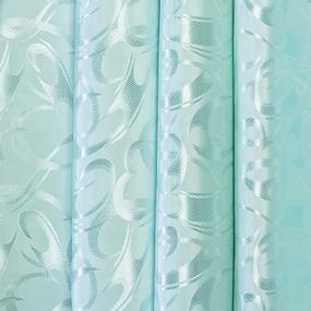 Портьерная ткань 150 см на отрез 32 цвет бирюзовый фото