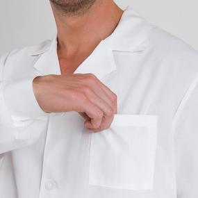 Халат мужской классический рукав длинный бязь отбеленная ГОСТ 64-66 рост 182-188 фото