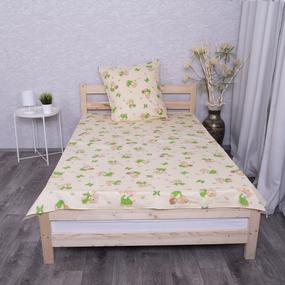 Детское постельное белье из бязи 1.5 сп 1332/6 За медом бежевый фото
