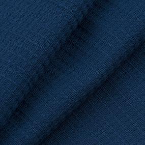 Ткань на отрез вафельное полотно гладкокрашенное 150 см 165 гр/м2 цвет индиго фото