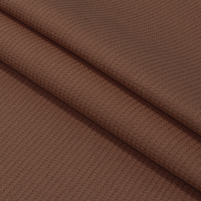 Ткань на отрез вафельное полотно гладкокрашенное 150 см 165 гр/м2 цвет шоколад фото