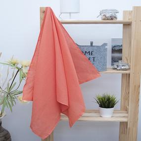 Полотенце вафельное банное 150/75 см цвет коралловый фото
