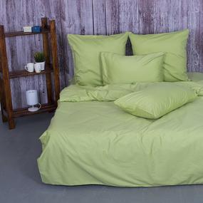 Постельное белье из сатина 40S 016 Травяной 2-х сп с евро простыней с 2-мя нав. 70/70 фото