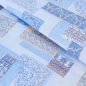 Пододеяльник бязь ГОСТ 356/1 Арабеска цвет голубой 1.5 сп фото
