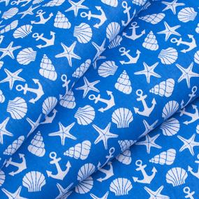 Ткань на отрез бязь плательная 150 см 9189/1 цвет синий фото