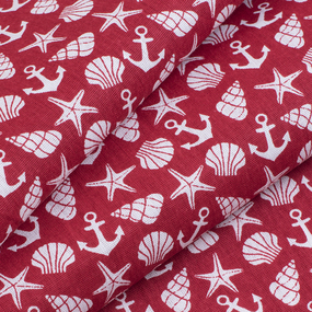 Ткань на отрез бязь плательная 150 см 9189/2 цвет красный фото
