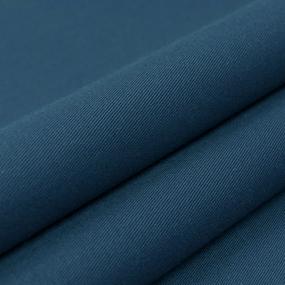 Ткань на отрез сатин гладкокрашеный 042BGS синий air jet фото