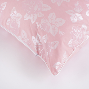 Наперник тик Китай 40/60 кант молния Розы цвет розовый фото