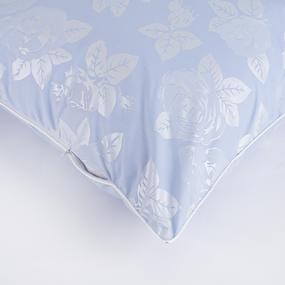 Наперник тик Китай 40/60 кант молния Розы цвет голубой фото