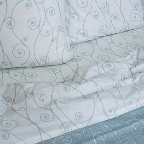 Постельное белье из перкаля 206634 Изгиб 4 бирюз. 1.5 сп фото