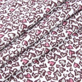 Ткань на отрез интерлок Леопардовые сердца Т608 фото