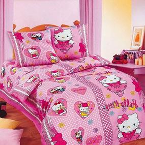 Постельное белье детское 3834/1 Бантики цвет розовый фото