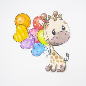Нашивка Жираф с шариками 3D 22*17см фото