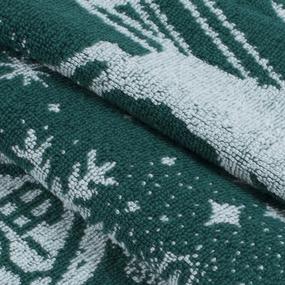 Полотеце махровое Зимняя сказка ПТХ-3602-02837 50/80 см цвет зеленый фото