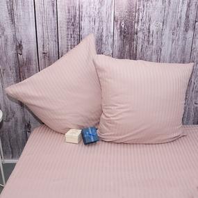Наволочка страйп-сатин полоса 1х1 120 гр/м2 730/2 цвет роза в упаковке 2 шт 70/70 фото