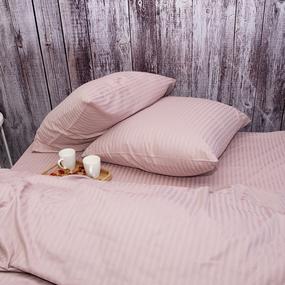 Пододеяльник из страйп-сатина полоса 1х1 120 гр/м2 730/2 цвет роза, Евро фото