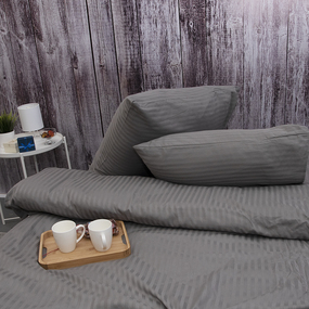 Пододеяльник из страйп-сатина полоса 1х1 120 гр/м2 960/2, 2-x спальный фото