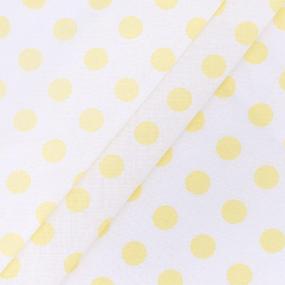 Бязь плательная 150 см 8111/35 Горох крупный желтый фото