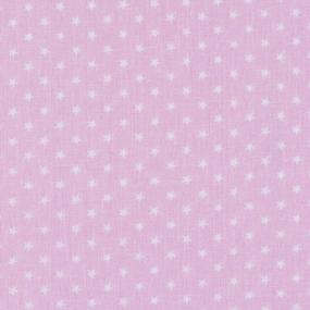 Бязь плательная 150 см 7223/32 Мелкие звездочки 0.5 см о/м цвет розовый фото