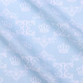 Бязь плательная 150 см 8109/4 Короны цвет ментол фото