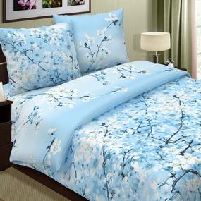 Ткань на отрез поплин 220 см 574-2 Сакура цвет голубой фото