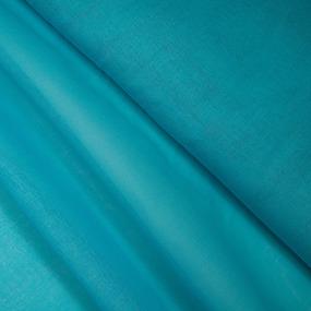 Ткань на отрез ситец гладкокрашеный 80 см 65 гр/м2 цвет бирюзовый фото