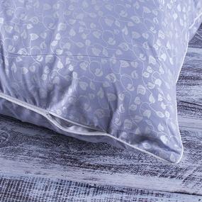 Подушка Лебяжий пух Листочки на голубом 40/60 фото