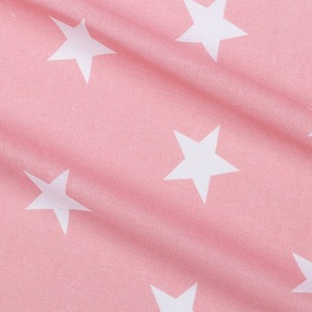 Бязь плательная 150 см 8129/32 Бязь Звезды крупные розовые о/м фото