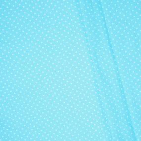 Бязь плательная 150 см 7223/31 Мелкие звездочки 0.5 см о/м цвет голубой фото