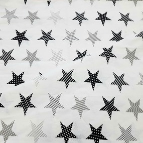 Бязь плательная 150 см 8104/5 звезды пэчворк цвет серый фото