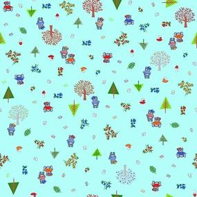 Ткань на отрез ситец 95 см 21196/2 Медвежата фото