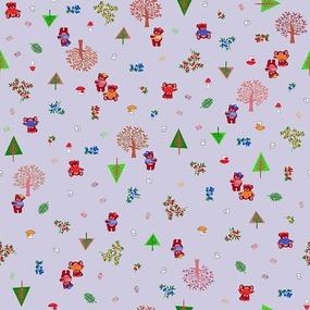 Ткань на отрез ситец 95 см 21196/9 Медвежата фото