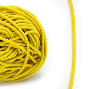 Резинка шляпная 0,25см желтая 1 метр фото