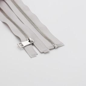 Молния металл №5СТ никель разьем 65см D316 серый фото