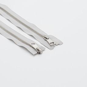 Молния металл №5СТ никель два замка 90см D316 серый фото