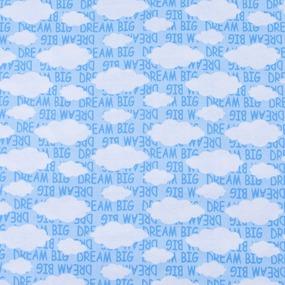 Ткань на отрез кулирка Облака 2303-V1 фото