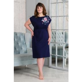 Платье 0875 цвет Темно-синий р 54 фото