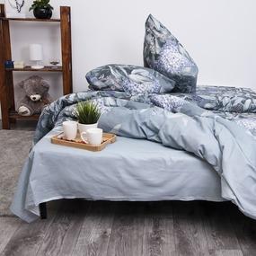 Постельное белье из бязи 205622 Ночная серенада 2-х сп с евро простыней фото