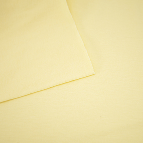 Ткань на отрез кулирка гладкокрашеная М-2013 цвет светло-желтый фото