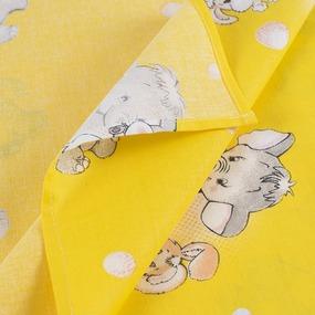 Набор детских пеленок бязь 4 шт 90/120 см 1285/5 Мамонтенок желтый фото
