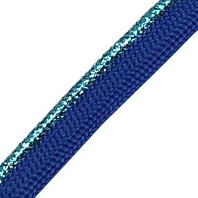 Лампасы №62 синий бирюзовый кант с люриксом 1,2см уп 10 м фото