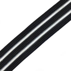 Лампасы №59 черные белые полосы 2,5см уп 10 м фото