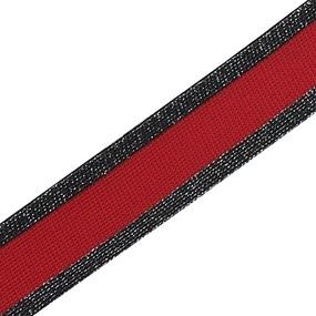 Лампасы №53 черная красная черная с люриксом 3 см уп 10 м фото