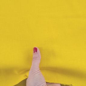 Ткань на отрез рогожка 150 см 11440 цвет лимонный фото