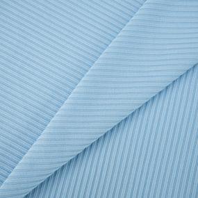 Мерный лоскут трикотаж лапша цвет голубой 1 м фото