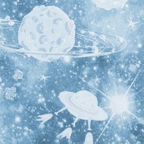 Маломеры перкаль 150 см 8814/1 Космос 2.65 м фото