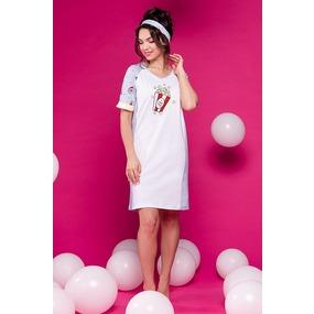 Платье 0864 цвет Белый р 52 фото