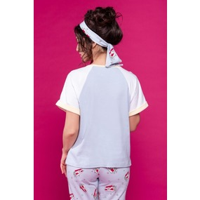 Костюм футболка + брюки 0863 цвет Серо-голубой р 42 фото