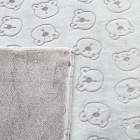 Покрывало велсофт стриженный Мишки 100/150 фото