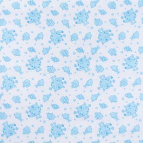 Ткань на отрез фланель 90 см 98031 Коты цвет голубой фото